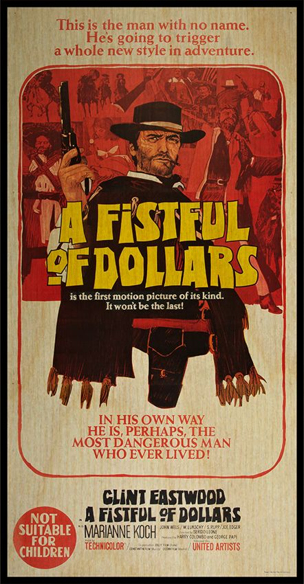 A fistfull of dollars 1964 Clint Eastwood cult western Movie poster print 2