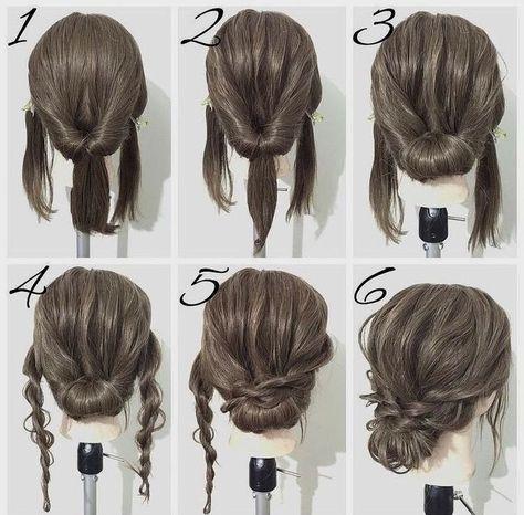 60 Easy Step By Step Hair Tutorials For Long Medium Short Hair Her Style Code In 2021 Medium Hair Styles Easy Updo Hairstyles Hair Styles