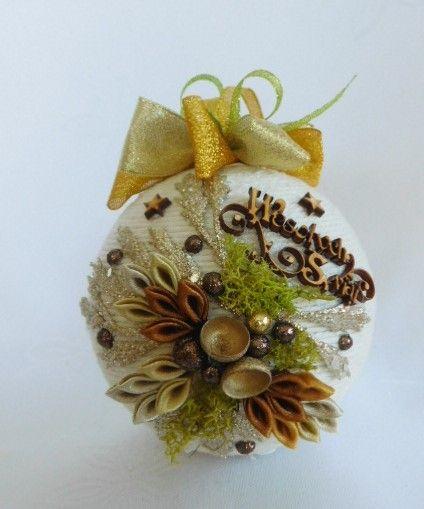 Bombka Sznurkowa Allegro Christmas Crafts Christmas Balls Christmas Ornaments