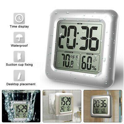 Waterproof Digital Bathroom Shower Wall Clock Thermometer Humidity Time Fashion Home Garden Homedcor Clocks In 2020 Waterproof Wall Clock Shower Wall Wall Clock