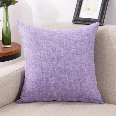 Solid Patterns Imitation Cotton And Linen Pillow Case Perrfect