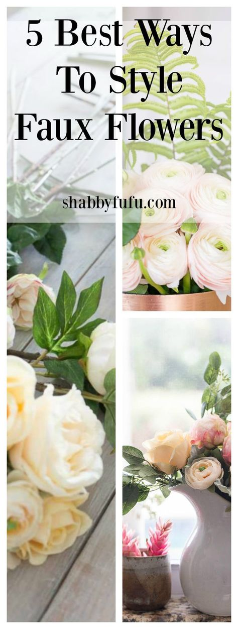 If you love flowers and can't always purchase fresh, click to see our tips for the best ways to style silk flowers!   #fauxflowers #silkflowers #flowerarranging