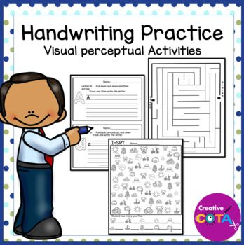 Distance Learning Abc Handwriting Practice By Creativecota Llc Teachers Pay Teachers In 2020 Handwriting Practice Worksheets Learning Abc Handwriting Practice