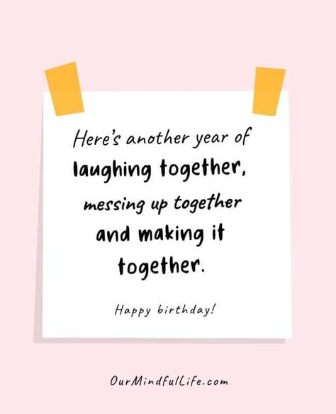 Sweet notes and cute birthday wishes for your best friends - OurMindfulLife.com