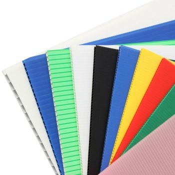 48 X 96 Polypropylene Corrugated Plastic Fire Retardant Core Flute Sheets Corrugated Plastic Corrugated Plastic Board