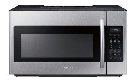 Samsung 1 8 Cu Ft Over The Range Fingerprint Resistant Microwave