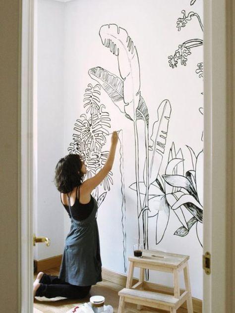 Decorazioni Murali Con Pittura.Murales Decorazioni Decorazioni Fai Da Te Decorare Le Pareti