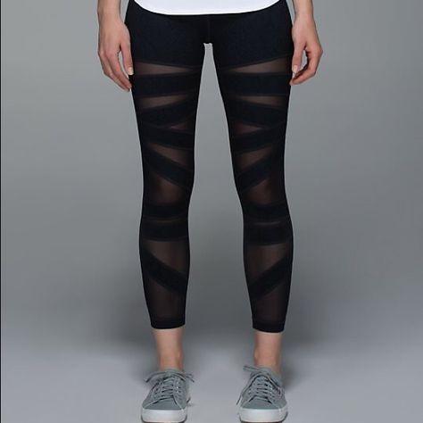 ad9c632336b417 Lulu lemon mesh leggings Make me an offer lululemon athletica Pants Leggings