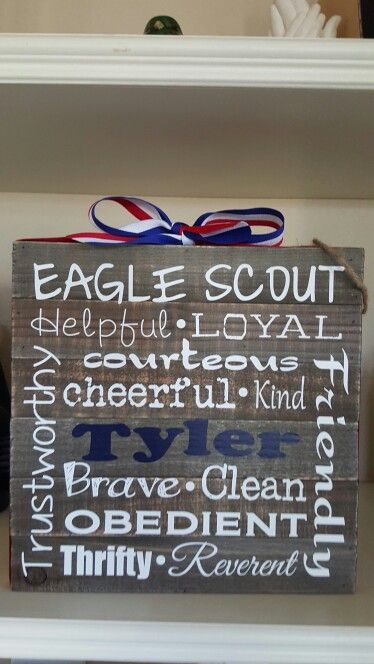 Gift I made for a new Eagle scout. & List of Pinterest eagle scout gifts ideas pictures u0026 Pinterest eagle ...