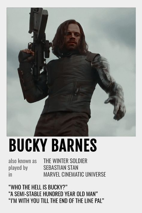 Bucky Barnes Polaroid Poster