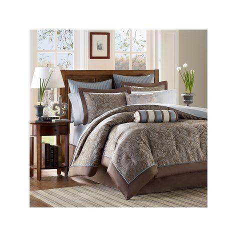 Madison Park Whitman 12 Pc Paisley Bed Set Products Paisley