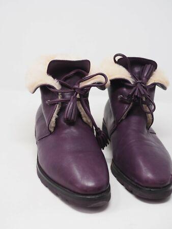 New Robert ZUR Purple Sheepskin Winter Ankle Boots Women 41