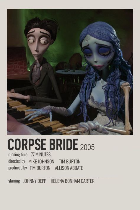 CORPSE BRIDE POLAROID MOVIE POSTER