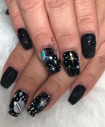 Easy Halloween Bystryj I Prostoj Dizajn How To Paint Nails Amerikanskij Manikyur Witchy Nails Planet Nails Nail Trends