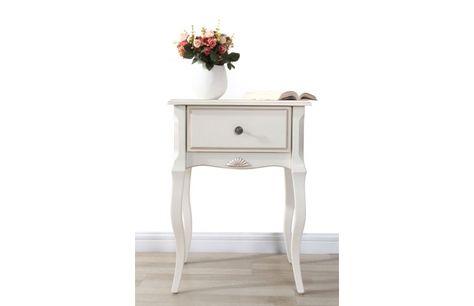 Table De Chevet Baroque Bois Blanc Bianca Table De Nuit Table