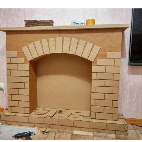 Best Home Games Room Fireplaces Ideas Fake Fireplace, Christmas Fireplace, Christmas Home, Christmas Crafts, Diy Cardboard, Cardboard Furniture, Game Room Furniture, Cardboard Fireplace, Christmas Party Decorations