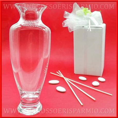 Vasi Vetro Ingrosso.Vasi In Vetro Trasparente Bottiglie Porta Profumo Stock