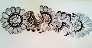Image result for mehndi designs on paper with pencil