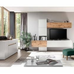 Reduzierte Zimmereinrichtungen Design Wohnwand Inkl 170cm Anrichte Tolone 61 In Matt Weiss Mit In 2020 Indian Living Rooms Living Room Shelves Farm House Living Room