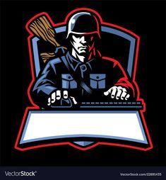 Soldier Esport Logo Vector Image On Vectorstock Game Logo Design Game Logo Team Logo Design