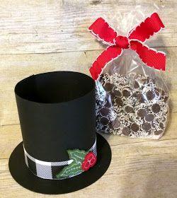Day 1 32 Of Christmas Extravaganza Top Hat Diy Christmas Gifts Christmas Treats Holders Dollar Tree Christmas Decor
