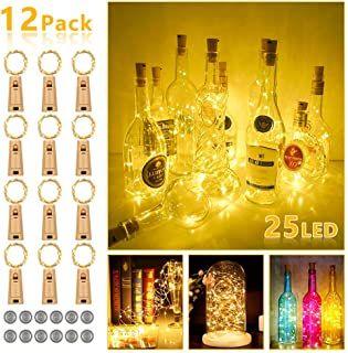 Lichtkette Flasche Korken 40 warmweiß LED`s Weinflasche Deko Draht LED