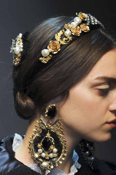 Dolce and Gabbana Baroque Headpiece