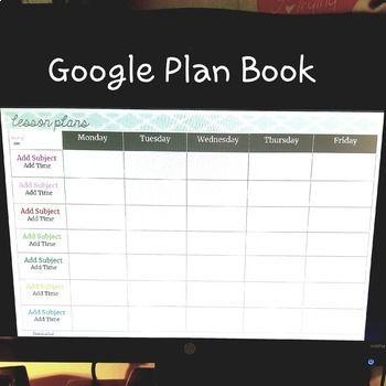 Google Drive Digital Teacher Planner Google Docs Lesson Plan