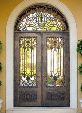 Wrought Iron Doors By Cantera Doors Leading Supplier In 2020 Iron Doors Wrought Iron Doors Front Entrances Wrought Iron Doors