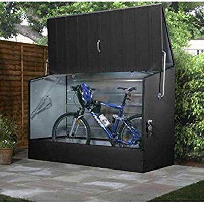 Amazon Com Bosmere Trimetals A303 Bicycle Storage Unit 77 X 35 X 52 Anthracite Garden Outdoor Opberg Tuin Fietsenstalling Wasruimte Design