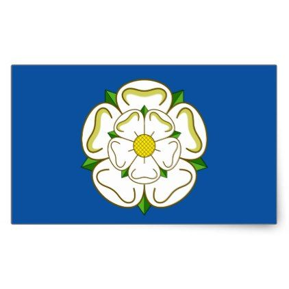 Flag Of Yorkshire Rectangular Sticker Zazzle Com In 2020 Yorkshire Rose Yorkshire Flag County Flags