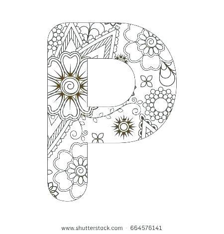 Letter P Coloring Pages Alphabet Coloring Sheets For Adults Letter P Colouring Sheets For Adults Alphabet Coloring Coloring Pages