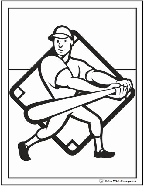 Baseball Bat Coloring Page Awesome Baseball Coloring Pages Customize And Print Pdf In 2020 Bat Coloring Pages Baseball Coloring Pages Coloring Pages