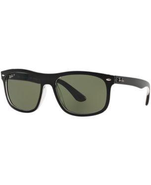 ray ban matte black highstreet sunglasses green classic