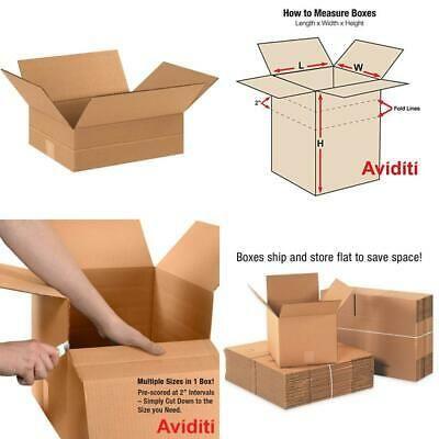Ad Ebay Aviditi Md12104 Multi Depth Corrugated Box 12 Length X 10 Width X 4 Height In 2020 Corrugated Box Corrugated Depth