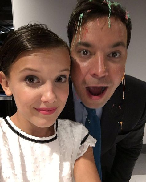 """Millie Bobby Brown on Twitter: """"Thanks @jimmyfallon for letting us come on your…"""