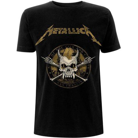 Metallica Unisex Tee: Scary Guy Seal (Black) - X-Large / Black / Unisex