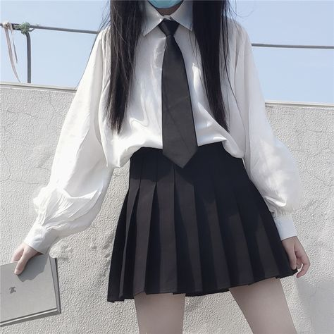 18.46US $ 23% OFF 2021 Summer New Korean Style College Tie Loose Thin Shirt High Waisted Pleated Skirt Suit Female School Girl Uniform School Uniforms    - AliExpress