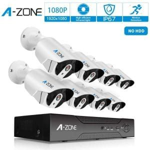 A Zone Security 1080p 8 Channel Poe Camera System Security Camera System Home Security Systems Wireless Home Security Systems