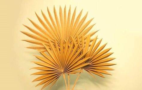 DIY paper palm leaves step by step