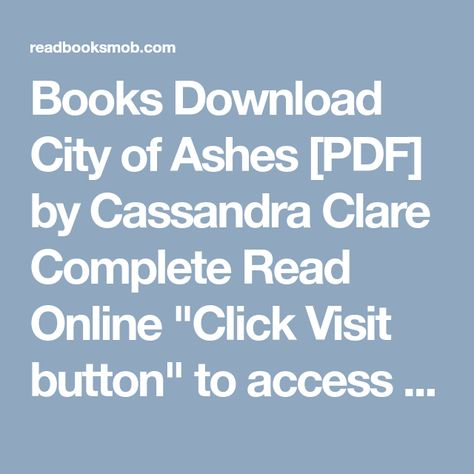 Book pdf epub the mortal instruments the complete collection city of….