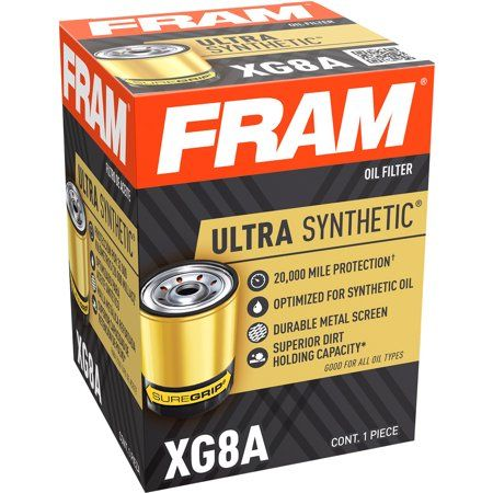 Fram Ultra Synthetic Filter Xg5 20k Mile Change Interval Oil Filter Walmart Com Oil Filter Synthetic Oil Oil Change