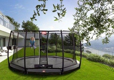 Berg Trampolina Inground Champion Grey 430 Safety Net Deluxe 35 44 91 01 35 44 53 01 35 72 24 02 Moleo Trampoline Dream Home Design Outdoor Bed