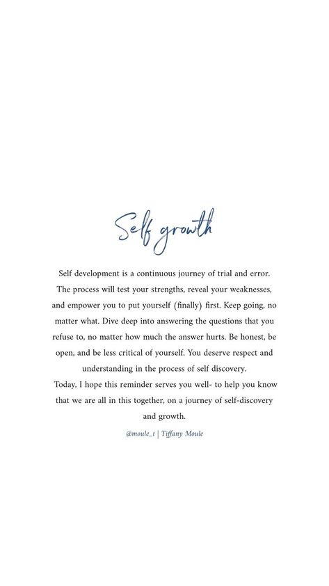Self Growth PRINT Digital Quote by Tiffany Moule   Etsy