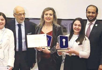 ثانوية الحدادين بنات تفوز بالمركز الأول في تحدي القراءة العربي في لبنان Fashion Academic Dress Academics