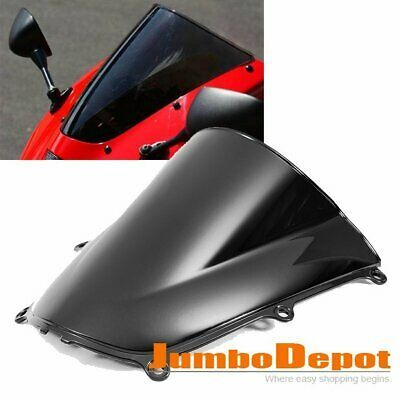 Advertisement Ebay 1x Motorcycle Windshield Screen Black Double Bubble New For Honda Cbr600rr 05 06 With Images Motorcycle Windshields Honda Cbr600rr Windshield