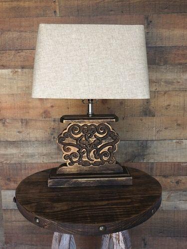 Lamp Modern Rustic Lamps, Rustic Modern Furniture Reno