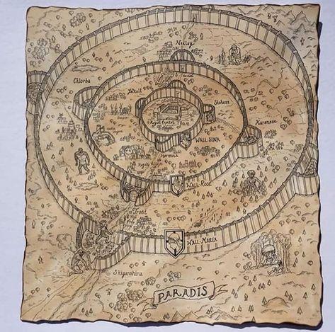 Carte De L Ile Du Paradis Avec Les Nombreux Evenements De La Serie