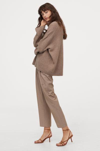 Bryuki So Strelkami Bezhevyj Zhenshiny H M Ru In 2021 Ankle Length Pants Trousers Pants