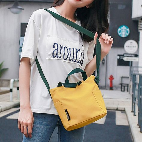Women Canvas String Solid Crossbody Bag Travel Leisure Handbag is designer, see other cute bags on NewChic.